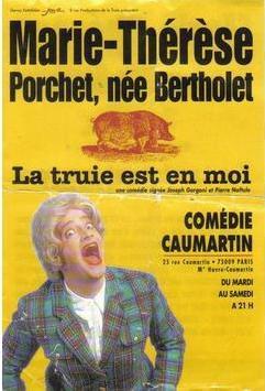Marie-Thérèse Porchet : La truie est en moi affiche