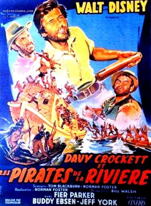 Davy Crockett et les pirates de la rivière affiche
