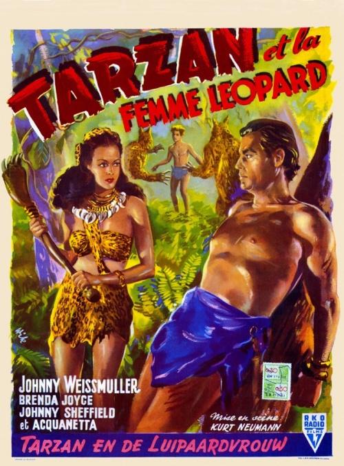 Tarzan 10 - Tarzan et la femme Léopard affiche