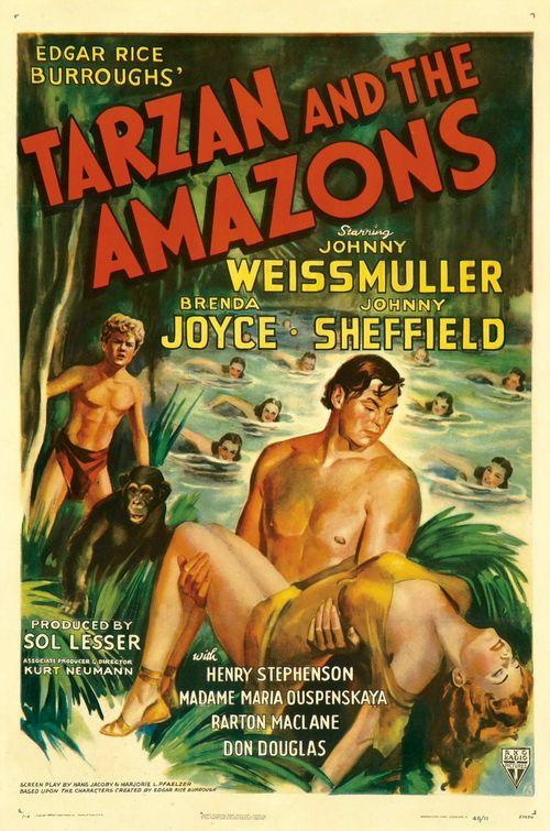 Tarzan 09 - Tarzan et les Amazones affiche