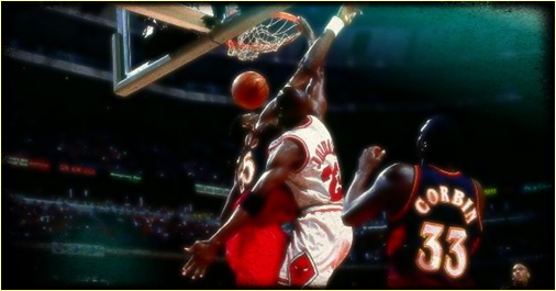 Michael Jordan facial dunks